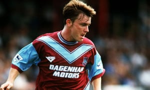 Joey Beauchamp, playing for West Ham in another 1994 pre-season friendly, this time against St Alban