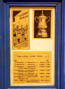 Framed memorabilia of Oxford City's record FA Cup tie against Alvechurch