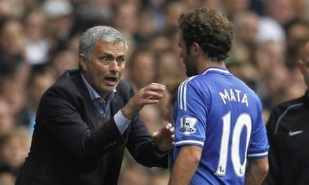 José Mourinho and Juan Mata