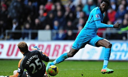 Emmanuel Adebayor of Tottenham