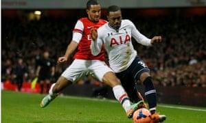 Theo Walcott Arsenal Danny Rose Tottenham