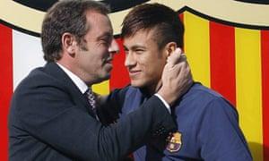 Sandro Rosell and Neymar