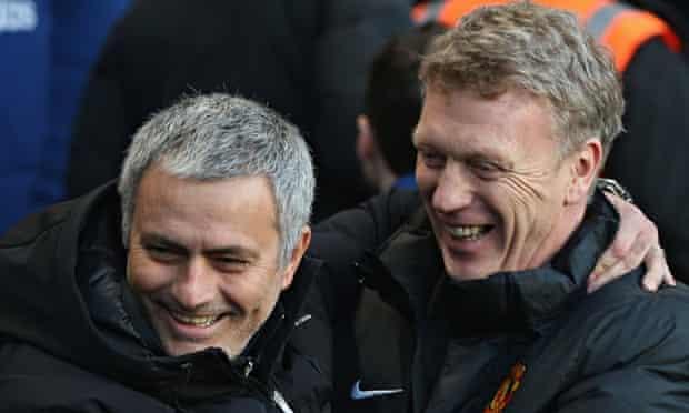 José Mourinho greets David Moyes
