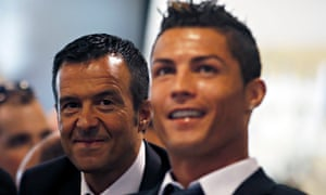 Jorge Mendes with Cristiano Ronaldo