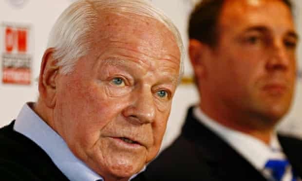 Wigan owner Dave Whelan, left, and manager Malky Mackay