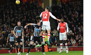 Arsenal against Newcastle United in Premier League