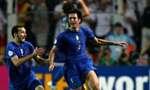 Fabio Grosso celebrates