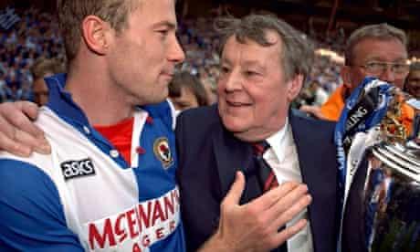 Blackburn's Alan Shearer and owner Jack Walker