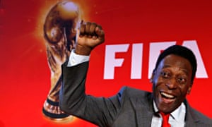 Pelé, who has has been named the best ever World Cup footballer in a Guardian ranking, played in four of the tournaments