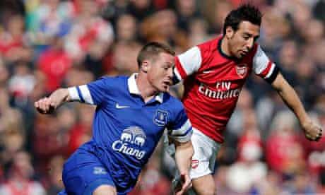 James McCarthy Everton Santi Cazorla Arsenal
