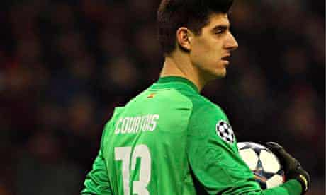 Atlético Madrid goalkeeper Thibaut Courtois