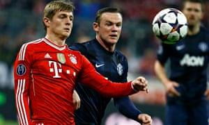 Toni Kroos of Bayern Munich
