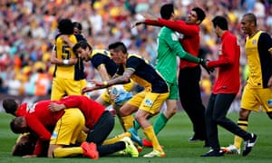 Atlético Madrid celebrate