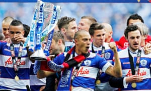 QPR's Bobby Zamora celebrates