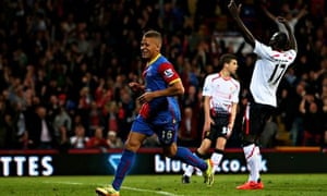 Dwight Gayle of Crystal Palace celebrates