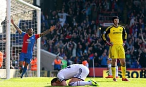 John Terry after scoring an own goal against Crystal Palace.