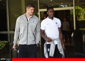 Danny Welbeck, right, and Fraser Forster