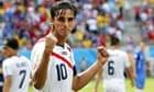 Bryan Ruiz of Costa Rica celebrates