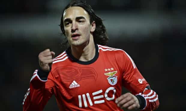 Benfica's Serbian midfielder Lazar Markovic