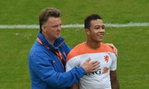 Louis van Gaal Memphis Depay Holland