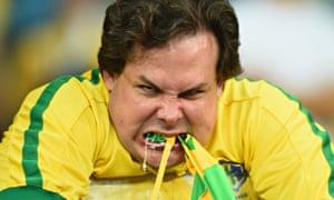 emotional Brazil fan