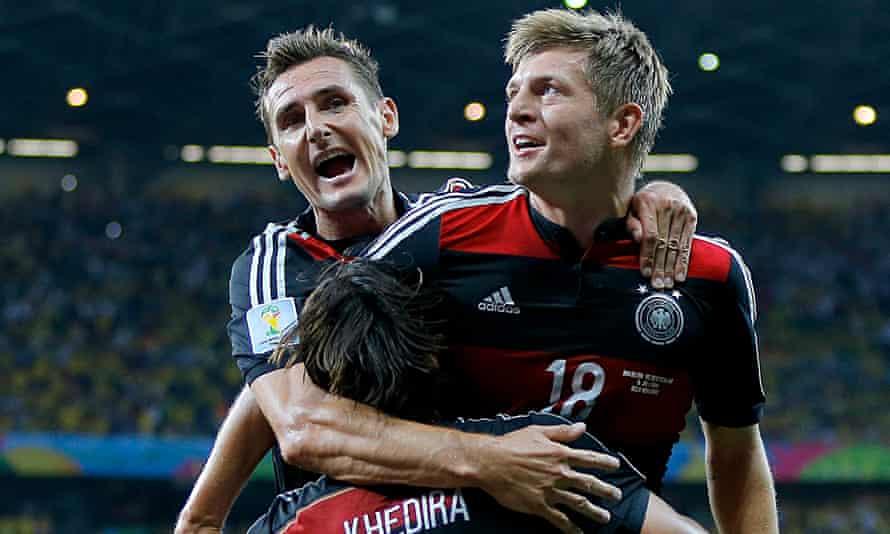 Miroslav Klose Toni Kroos Sami Khedira Germany