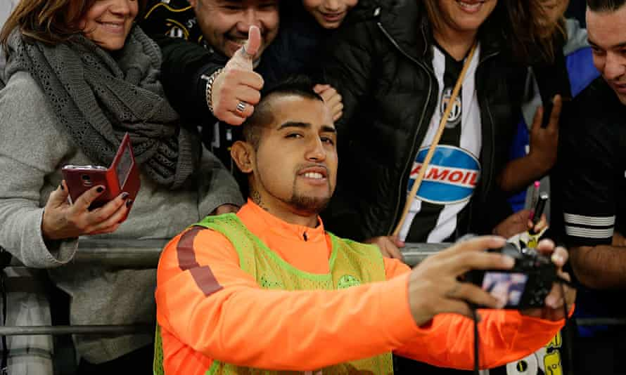 Arturo Vidal here with Juventus in Australia this month. Any move to Manchester United still appears