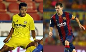 Gio dos Santos and Lionel Messi