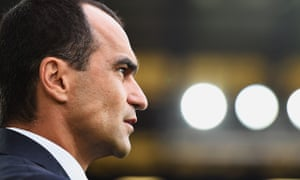 Everton manager Roberto Martínez