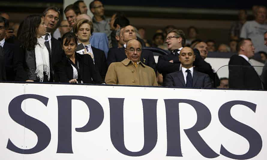 Daniel Levy and Joe Lewis, Spurs owner and chairman