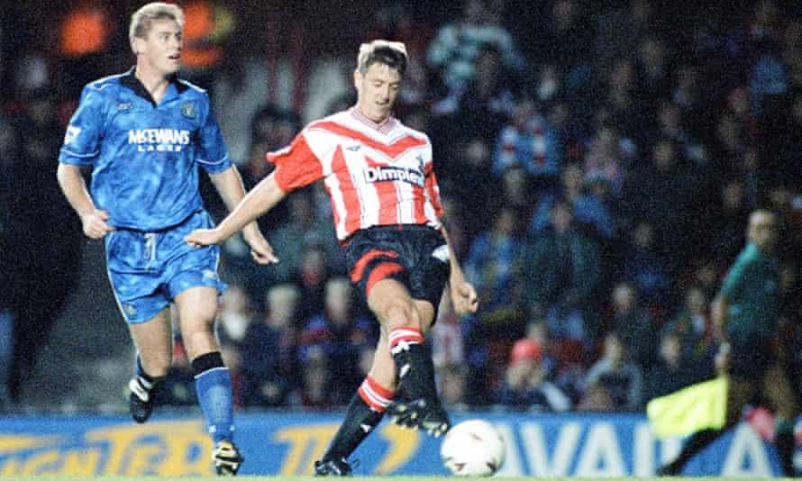 Matt Le Tissier scores for Southampton against Newcastle in 1993