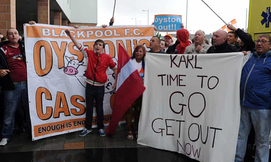 Blackpool fans' protest