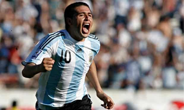 Juan Román Riquelme was at the heart of some of Argentina's most beautiful World Cup football.