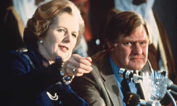 Margaret Thatcher with Bernard Ingham