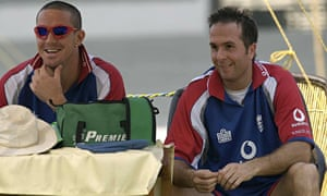 Kevin Pietersen with the then England captain Michael Vaughan in 2006