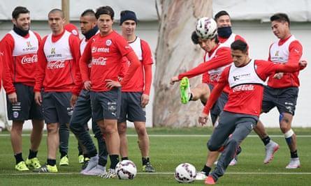 Alexis Sánchez Chile training session