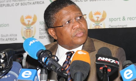 South Africa minister of sport Fikile Mbalula