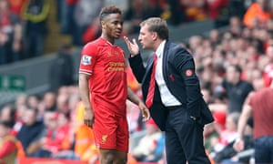 Raheem Sterling, left, seems to have fallen out irrevocably with Liverpool manager Brendan Rodgers.