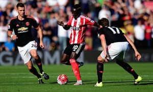 Southampton's Sadio Mané caused Manchester United problems despite being on the losing side.