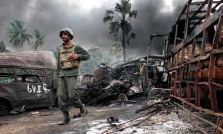 Sri lanka troops war zone
