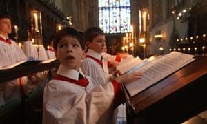 Choirboy kings college Christmas carols