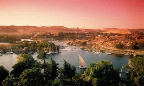 Nile evening Aswan Egypt