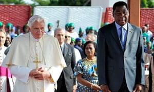 Pope Benedict Benin President Boni Yayi