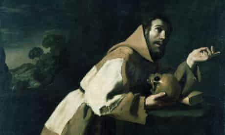Saint Francis Meditation Francisco de Zurbaran