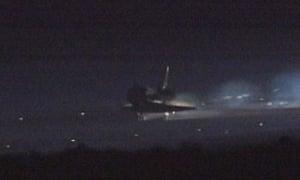 space shuttle atlantis touchdown