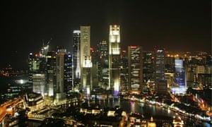 View of Singapore skyline