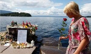 woman memorial utoya island