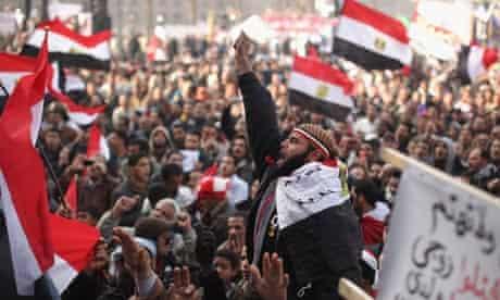 Egyptians Celebrate anniversary tahrir square