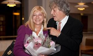 Tom Stoppard with Iryna Khalep.