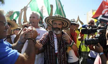 Manuel Sanchez Gordillo (C), mayor of Ma